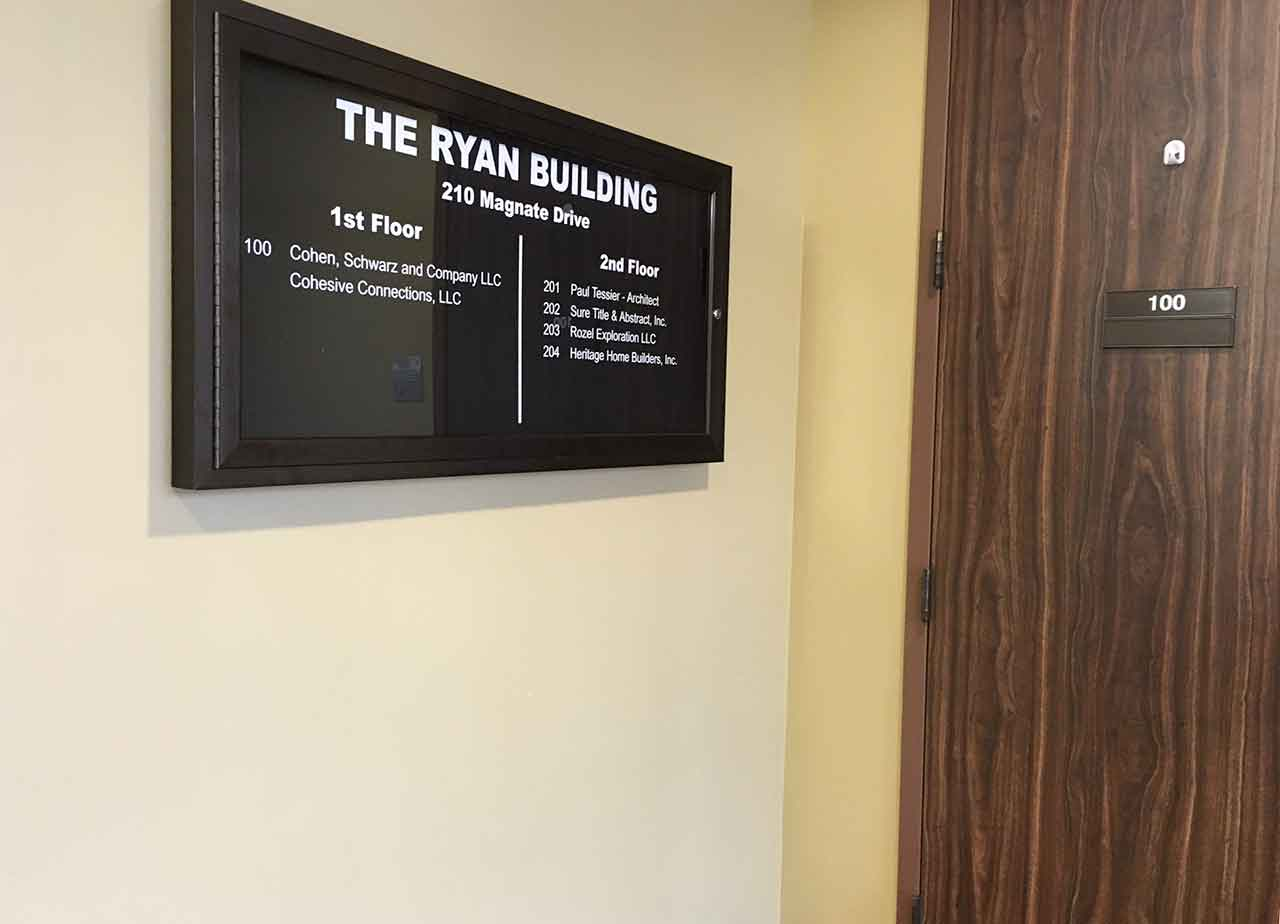 Ryan Building Directory Magnetic tenant system