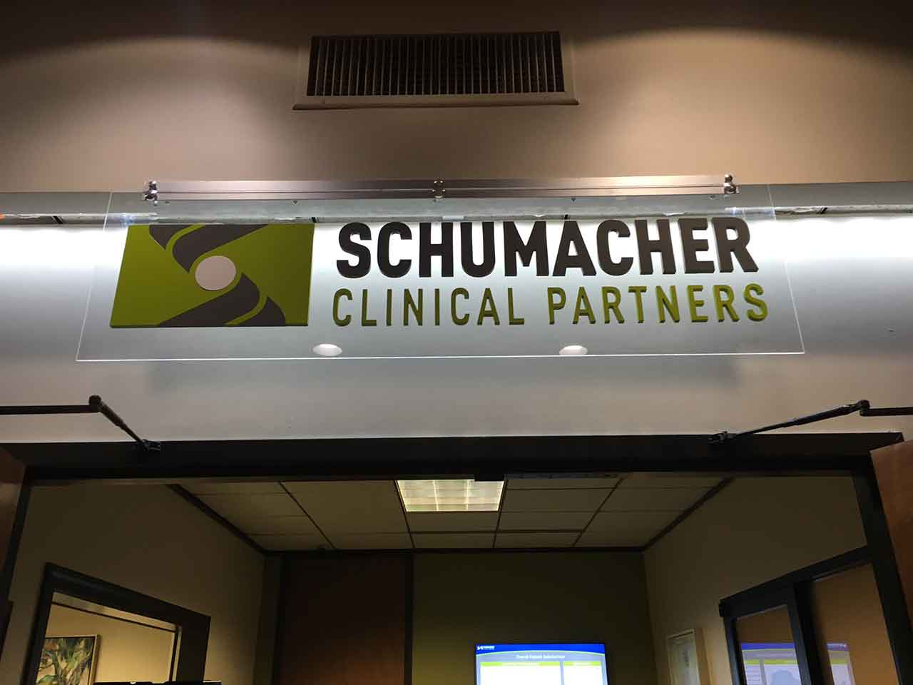 Schumacher interior sign-with custom illumination