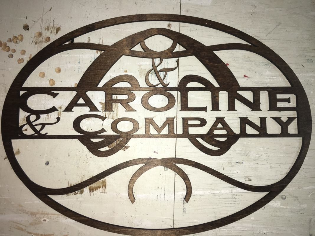 Custom stained wood logos