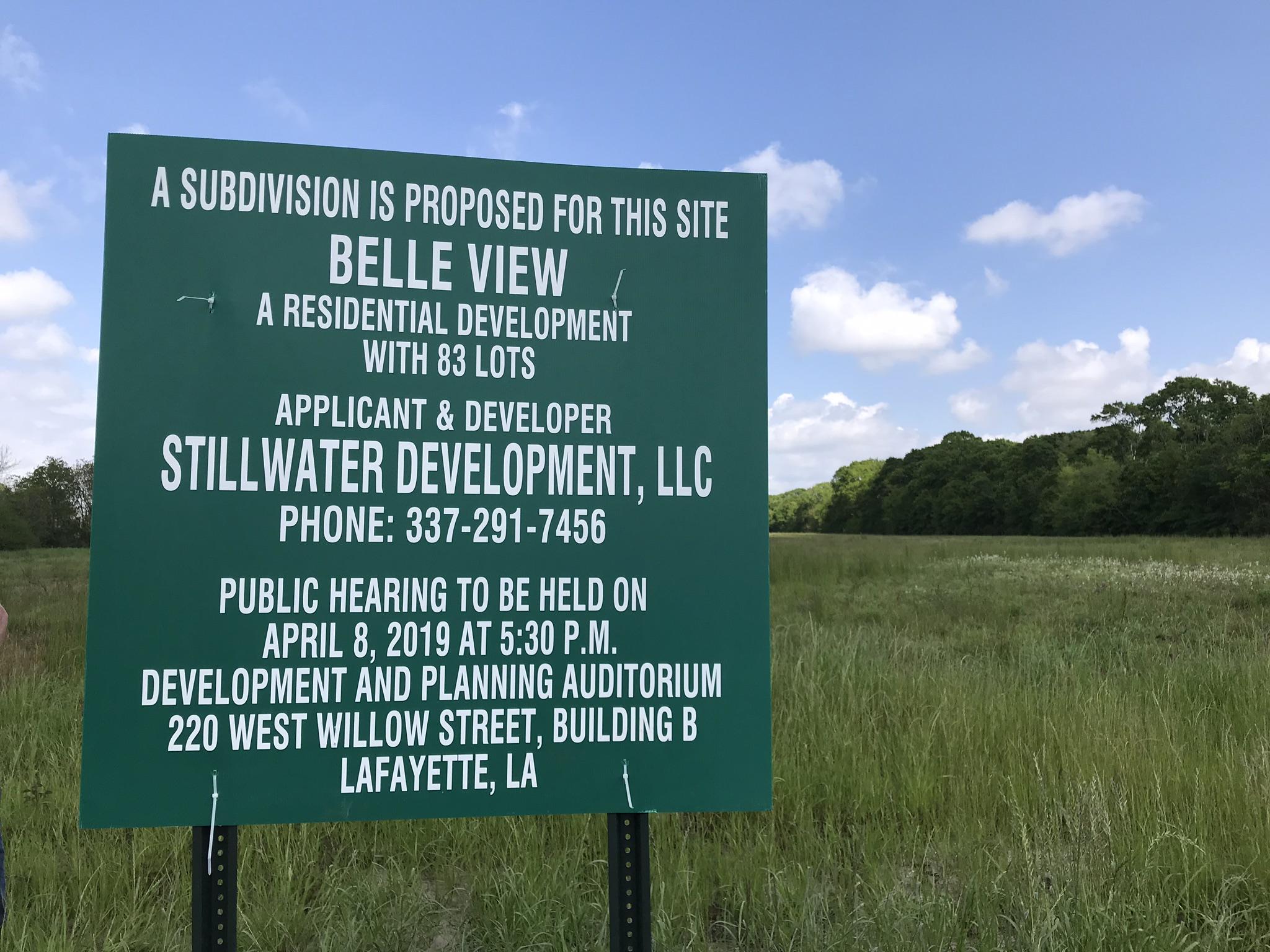Development signs